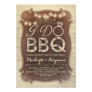 "rustic vintage BBQ engagement party invitation 5"" X 7"" Invitation Card"