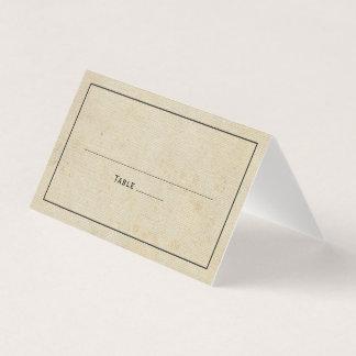 Rustic Vintage Burlap Elegant Wedding Place Card