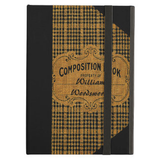 Rustic Vintage Composition Book iPad Air Case