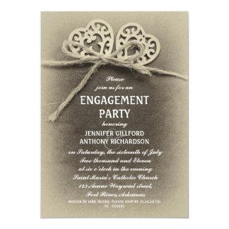 rustic vintage engagement party invitation
