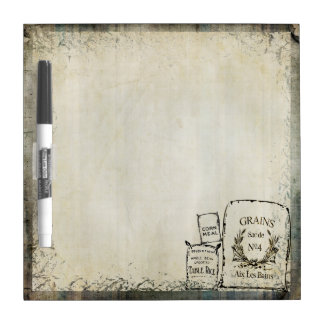 Rustic Vintage Grain Sacks | Farm Theme Dry Erase Board