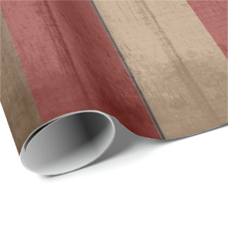 Rustic Vintage Grunge Red & Brown Weathered Wood Wrapping Paper