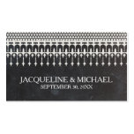 Rustic Vintage Lace Chalkboard Script Typography Pack Of Standard Business Cards