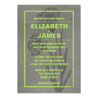 Rustic Vintage Lime Wedding Invitations