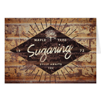 Rustic Vintage Maple Sugaring Hipster Note Card
