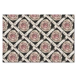 Rustic Vintage Pink Rose Tissue Paper