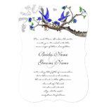 Rustic Vintage Royal Blue Wedding Invitations
