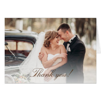 Rustic Vintage Truck Wedding Photo Thank You Card