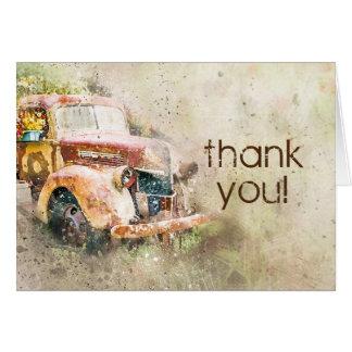 Rustic Vintage Truck Wedding Thank You Card