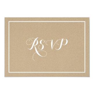 "Rustic Vintage Typography Script RSVP Card 3.5"" X 5"" Invitation Card"