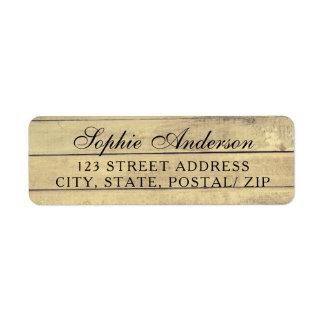 Rustic vintage wedding return address labels