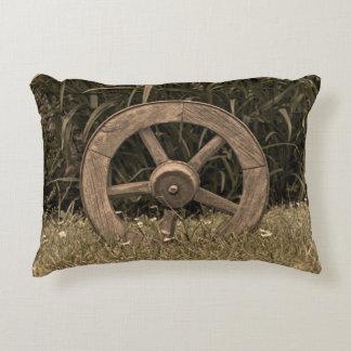 Rustic Wagon Wheel Decorative Cushion
