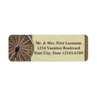 Rustic Wagon Wheel Return Address Label