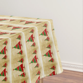Rustic, Watercolor, Christmas Trees, Holiday Tablecloth