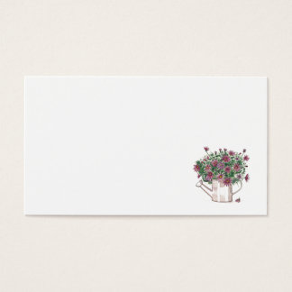 Rustic Watering Can Floral Wedding Place Name Card