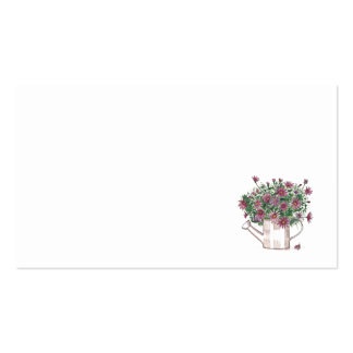 Rustic Watering Can Floral Wedding Place Name Card Pack Of Standard Business Cards