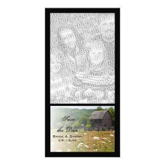 Rustic Weathered Barn Ranch Wedding Save the Date Photo Cards