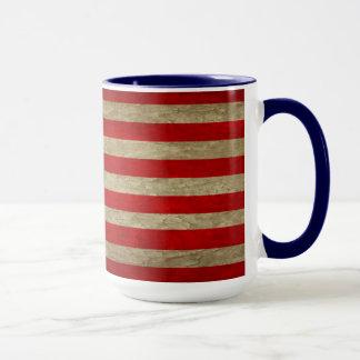 RUSTIC WEATHERED USA FLAG RINGER MUG