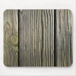Rustic Weathered Wood Grain Deck Board Mouse Pad