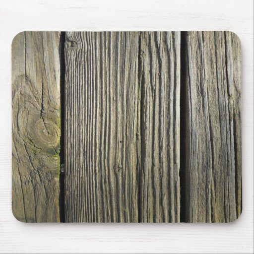 rustic weathered wood grain deck board mouse pad zazzle