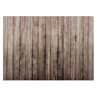Rustic weathered wood grain print cutting board