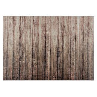 Rustic weathered wood grain print cutting boards