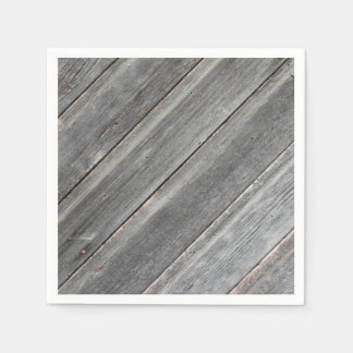 Rustic Weathered Wood Wall Paper Napkins