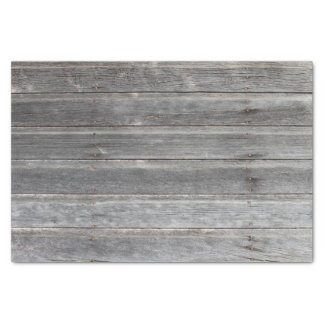 Rustic Weathered Wood Wall Tissue Paper