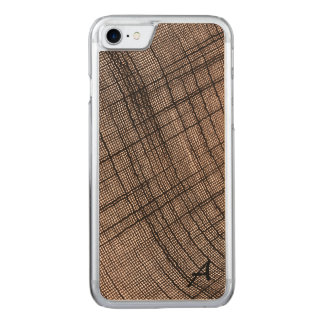 Rustic Weave Monogrammed Carved iPhone 8/7 Case
