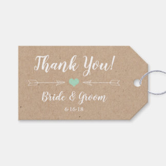 Rustic Wedding Favor Tag with arrows