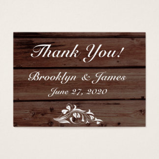 Rustic Wedding Favor Tags Business Cards