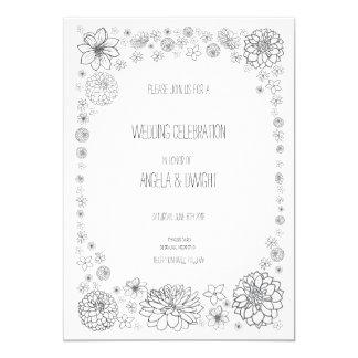 Rustic Wedding Flower Invitation card