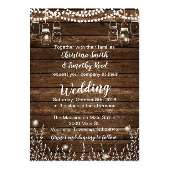 Rustic Wedding Invitations - Country Wedding
