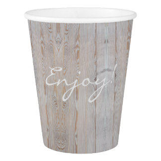 Rustic Wedding Party Light Gray Country Style Paper Cup