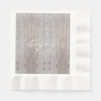 Rustic Wedding Party Light Wood Country Disposable Serviettes