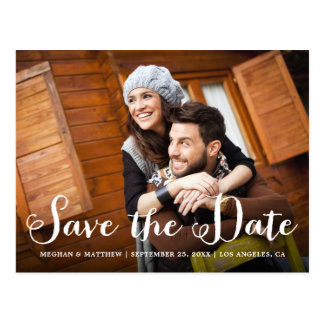 Rustic Wedding Photo Save the Date Postcard