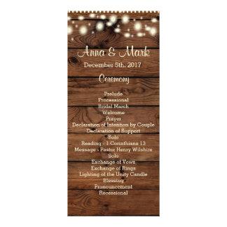 Rustic Wedding Program, Wedding Program, Rustic Rack Card