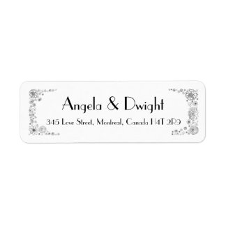 Rustic wedding return address labels country-style