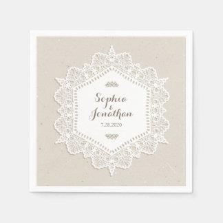 Rustic Wedding Romantic Vintage Lace Doily Disposable Napkin