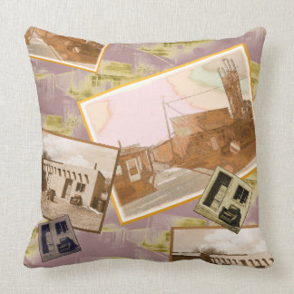 Rustic Western Building Montage Cushion
