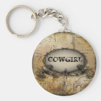 rustic western country barbed wire wedding basic round button key ring