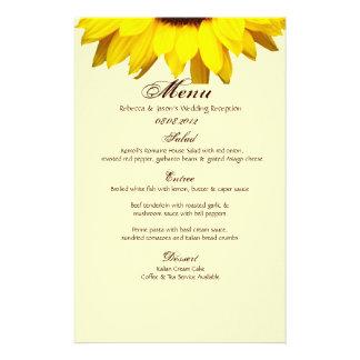 Rustic Western Country Burlap Sunflower Wedding Custom Stationery