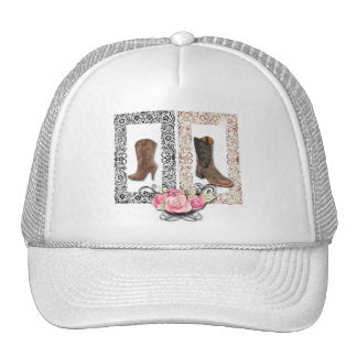 Rustic western country cowboy wedding cap