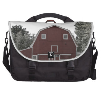 rustic western country farm landscape red barn commuter bag