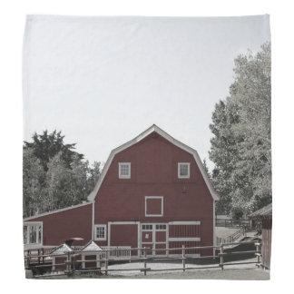 rustic western country farm landscape red barn bandana