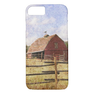 Rustic Western Country Farm Primitive Red Barn iPhone 8/7 Case