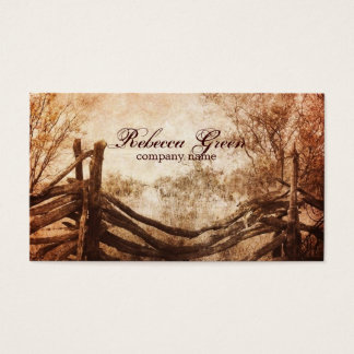 rustic western country farm wedding business card