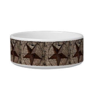 Rustic Western Country Primitive Texas Star Bowl
