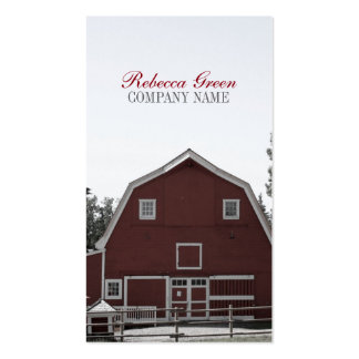 rustic western country red barn Organic farm Business Card Template