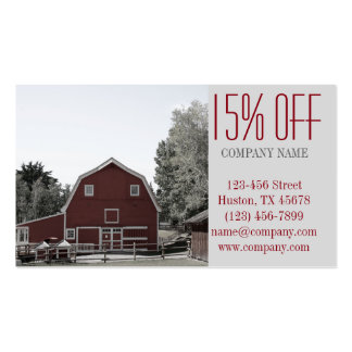 rustic western country red barn Organic farm Pack Of Standard Business Cards